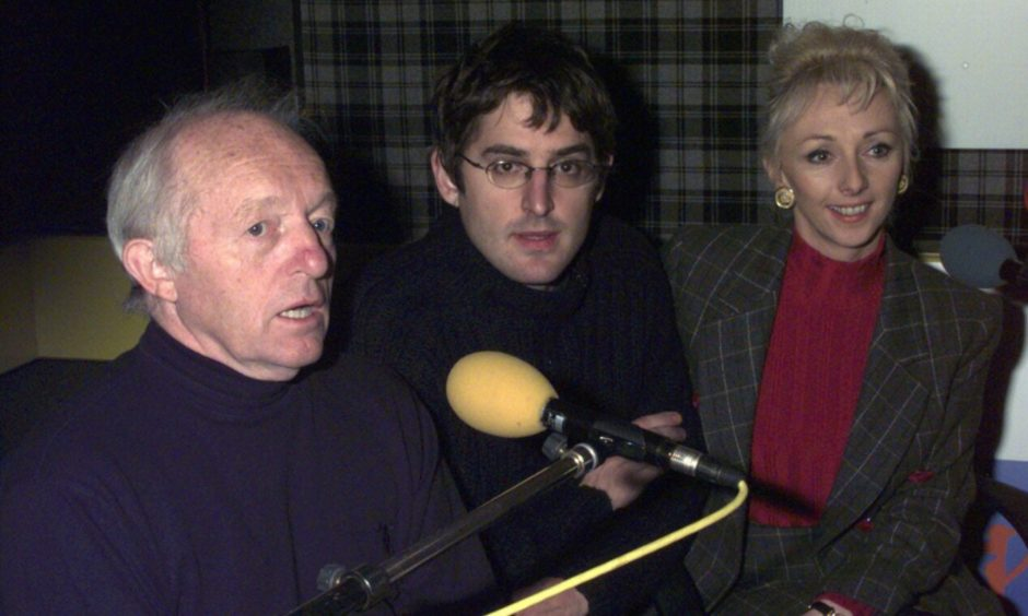 Paul Daniels, Louis Theroux and Debbie McGee face the music after the Dundee performance was cancelled.