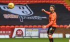 Dundee United striker Nicky Clark watches on as his second goal deflects home in their 2-1 win over Ross County last weekend.