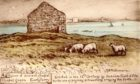 Ruins of Ancient Chapel at Earslferry from Reginald Phillimore postcard