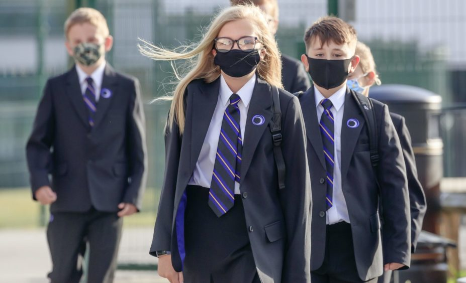 Thousands of pupils missed school on Tuesday because of Covid-19.