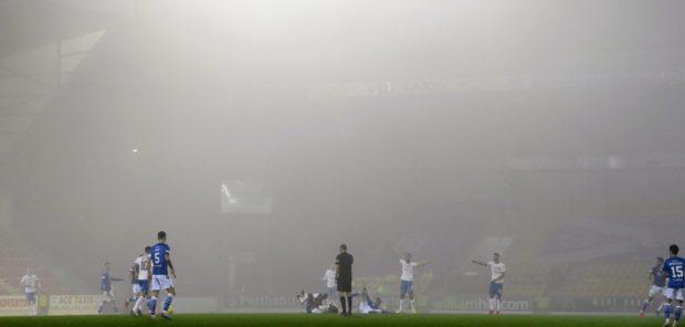 The mist covers McDiarmid.