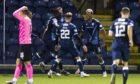 Raith Rovers' Manny Duku celebrates making it 3-3.