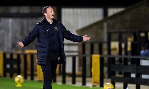 East Fife gaffer Darren Young.