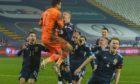 Scotland celebrate in Serbia.