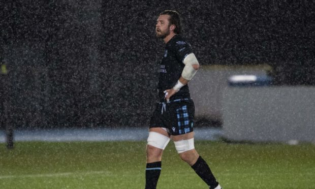 Ryan Wilson leaves the field after his pivotal yellow card in Monday's game against Munster.