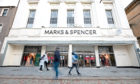 Courier News - Business - CR0024879 - Jim Millar story; Marks and Spencer has plunged to a major loss - the first in its 94 years. Could we please have some exterior images of the M&S in Dundee. Picture shows; general view (GV) of the store front, M&S, Marks and Spencer, Murraygate, Dundee, 04th November 2020. Picture by Kim Cessford / DCT Media