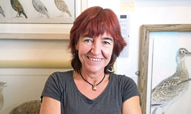 Vicky Cottrell of the Goldfinch Gallery in Comrie.