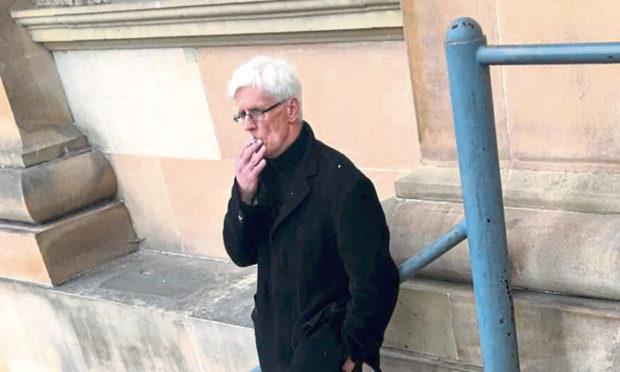 James Skelton Smith outside Dundee Sheriff Court.
