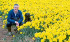 PICK OF THE BUNCH: Above, Mark Clark from Grampian Growers with his dog Baxter