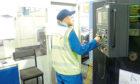 A FTV Proclad International technician