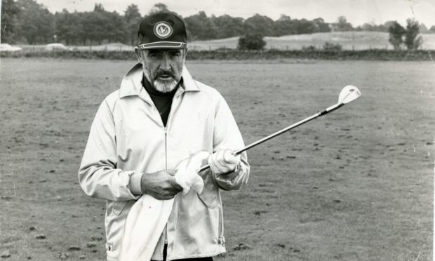 Sir Sean Connery at Gleneagles in 1979.