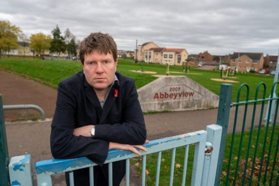 James Calder has denounced vandals who struck at the playpark