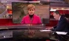 First Minister Nicola Sturgeon appearing on The Andrew Marr show
