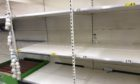 Empty shelves at the Dundee Asda Milton of Craigie in April this year