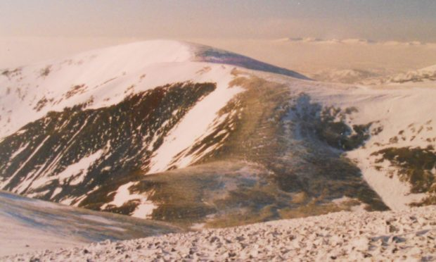 Beinn a'Ghlo, where a hillwalker was injured at the weekend.