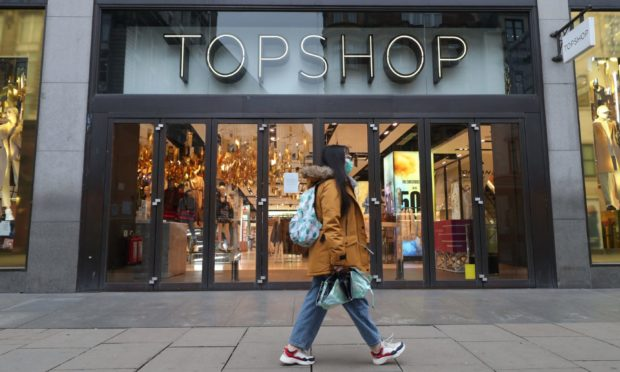 A general view of the Topshop store on Oxford Street, London