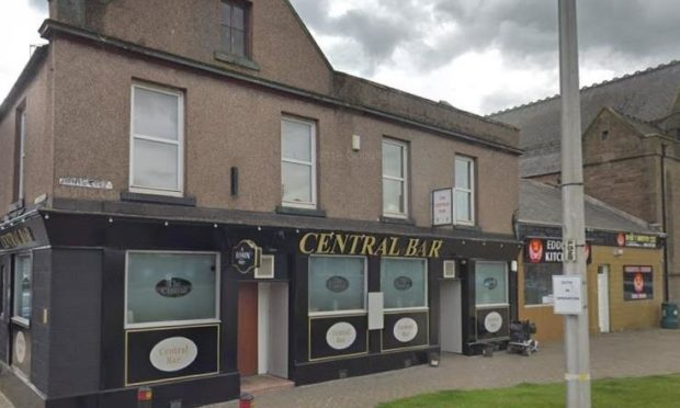 The assaults took place outside Arbroath's Central Bar.