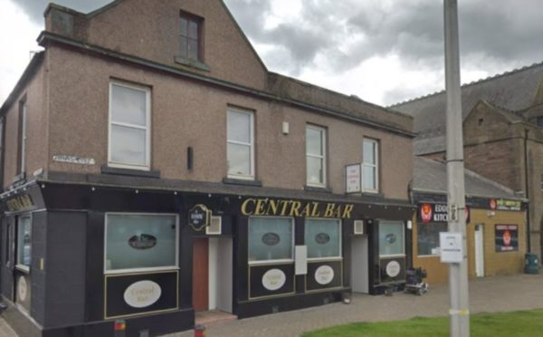 The offences took place outside Arbroath's Central Bar.