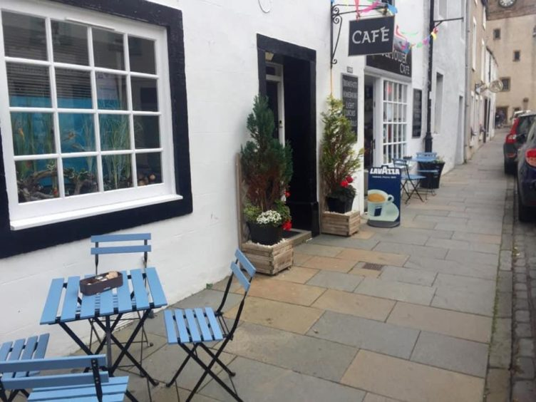The street outside the Clock Tower Cafe, Pittenweem
