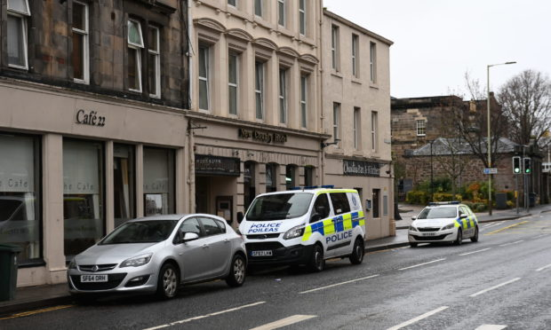 Police in attendance at New County Hotel in Perth.