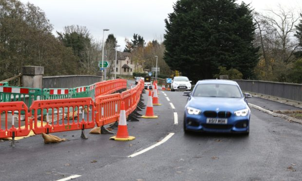 The A90 overpass reopened on Saturday, November 14.