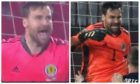 David Marshall's shirt in Serbia v Scotland game.