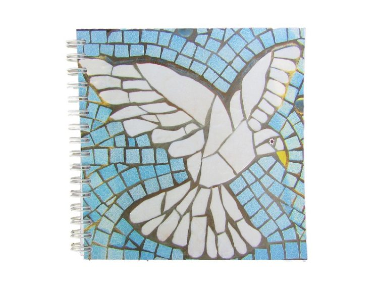 Dove in Flight Notebook by Recycle Me Mosaics