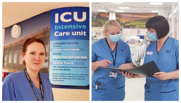 Dr Pauline Austin, left, believes ICU recovery should be better known. Right, nurses Fiona Duncan and Donna Harrop