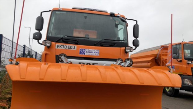 One of the new BEAR Scotland gritters which could soon be named by a Fifer.
