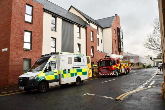 Emergency services attended the fire.