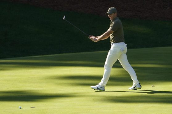 McIlroy shot eight-under in his first competitive action since the Masters.