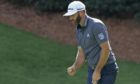 Dustin Johnson gives his usual muted reaction to a birdie at 13 on his way to his Masters win.