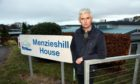 Ian Simpson outside Menzieshill House, where his mum is a resident