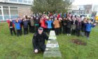 The Strathmore pupils dropped one of the winter walk trees off with Forfar PC Scott Anderson.