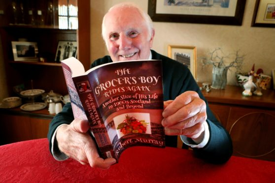 Carnoustie man Robert Murray with his new book