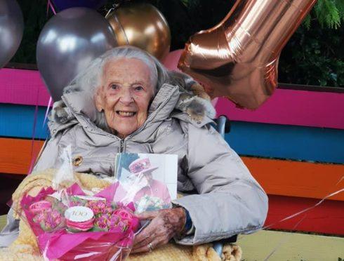 Jane Ewart-Evans celebrated her 100th birthday on Wednesday.
