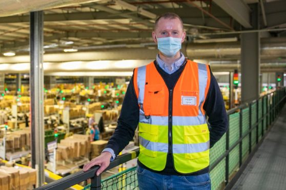 Jamie Strain, site leader at Amazon's Dunfermline Fulfilment Centre is gearing up for the busiest Black Friday and festive period in the site's history.