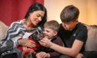 Michelle Morris, Ollie, Jett and Saul are reunited at home.