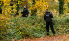 Police activity searching Reres Park, Monifieth Road on Monday morning