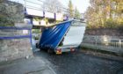 A lorry hit a low bridge on St Vincent Street, Broughty Ferry.