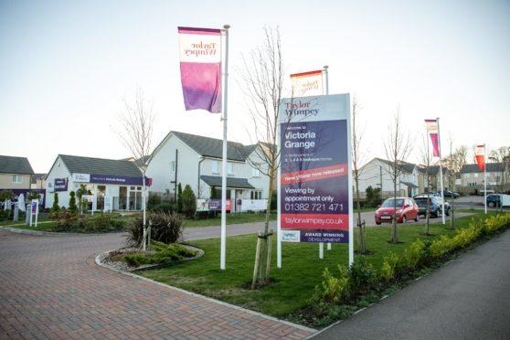 Taylor Wimpey housing development at Victoria Grange