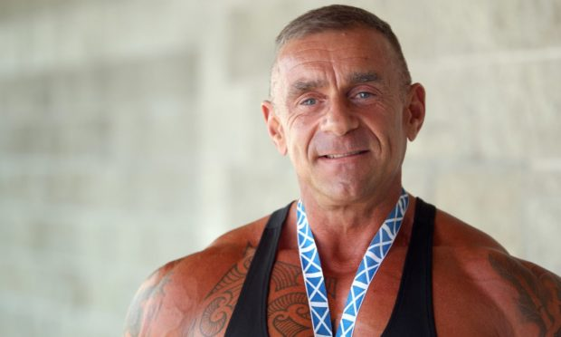 Steve Lewis was a well-known bodybuilder from Dundee.