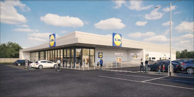 An artist's impression of the proposed Lidl.