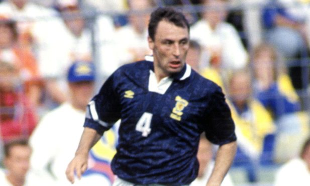 Maurice Malpas in action against Holland at Euro 1992 in Sweden.