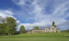 Murrayshall golf course Green 18 with Hotel