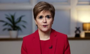 """First Minister Nicola Sturgeon """"would encourage without hesitation everybody who's eligible to get this vaccine as soon as they can""""."""