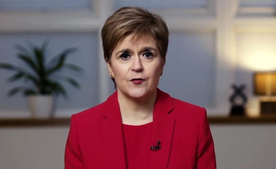 Nicola Sturgeon addressing SNP conference on Monday afternoon.