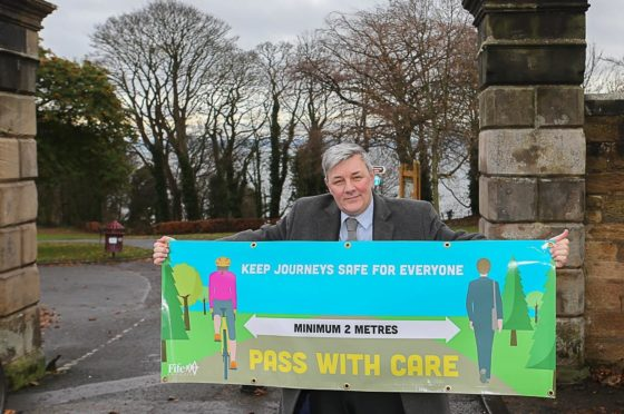 Councillor Altany Craik at Ravenscraig Park in Kirkcaldy highlighting the new campaign.