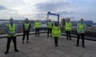 Some of the new recruits at Babcock's Rosyth site.
