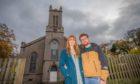 Lauren and Calum Runciman outside the former Stanley Church.